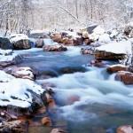 Snowfall on the Castor River Shut-ins