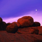 Elephant Rocks at Sunset with Full Moon Rising