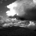 B&W Storm on the High Plains